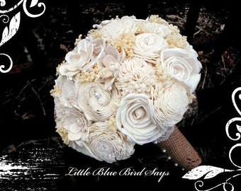 Rustic bridal bouquet Sola bouquet | wedding bouquet | bridal bouquet | sola flower bouquet | keepsake bouquet | rustic wedding