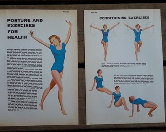 Vintage exercise illustrations