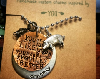 you are just like bacon necklace
