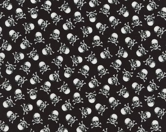 Timeless Treasures Mini Collection Skulls on Black C2059 by the Yard