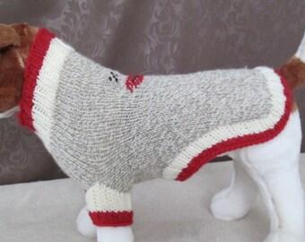 Custom Knit Dog Sock Monkey Sweater/Costume - SMALL