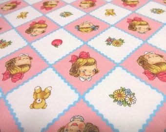 Japanese Fabric Pretty Little Girl Trellis  Fat Quarter