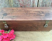 Wine Box for Rustic Weddings or Gifts, Anniversary, Birthday, Christmas