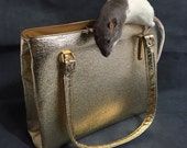 Reserved for Kim Taxidermy Rat Handbag In Gold