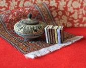 Dollhouse miniature historical books