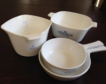 Cornflower Corning Ware Set with Coffee Pot 7 piece set Mint Condition