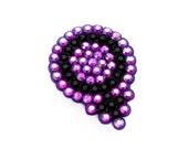 Venus Symbol Brooch - Rainbow Sparkle Violet & Black or Your Custom Crystal Colours - Feminist Pin Badge - Riot Grrl Jewellery