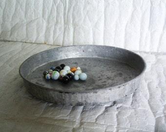 Hand wrought bowl vintage copper & tin platter. Turkish PASTRY BAKING PAN. Primitive cookware dish, Home decor, houseware, Planter pot stand