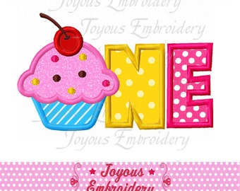 Instant Download Cupcake One Applique Embroidery Design NO:1756