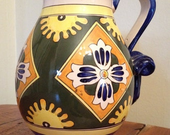 Ceramic Italian pitcher with vibrant colors