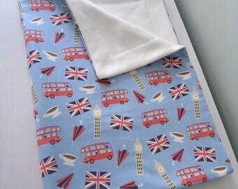 London Bus Flag Big Ben Baby Toddler Blanket for stroller or sofa