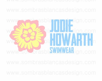 OOAK Premade Logo Design - Surf Flower - Perfect for a swimwear shop or a professional photographer