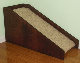 """Dog-Pet-Cat Ramp, 18"""" High Dog Ramp, Doggie-Doggy Ramps for Beds, Handmade in USA, Senior Dogs, Disabled Dog, Blind Dog, Small Dogs"""