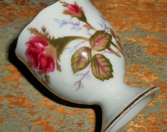 Vintage Egg Holder, Floral, Rose, Egg Cup
