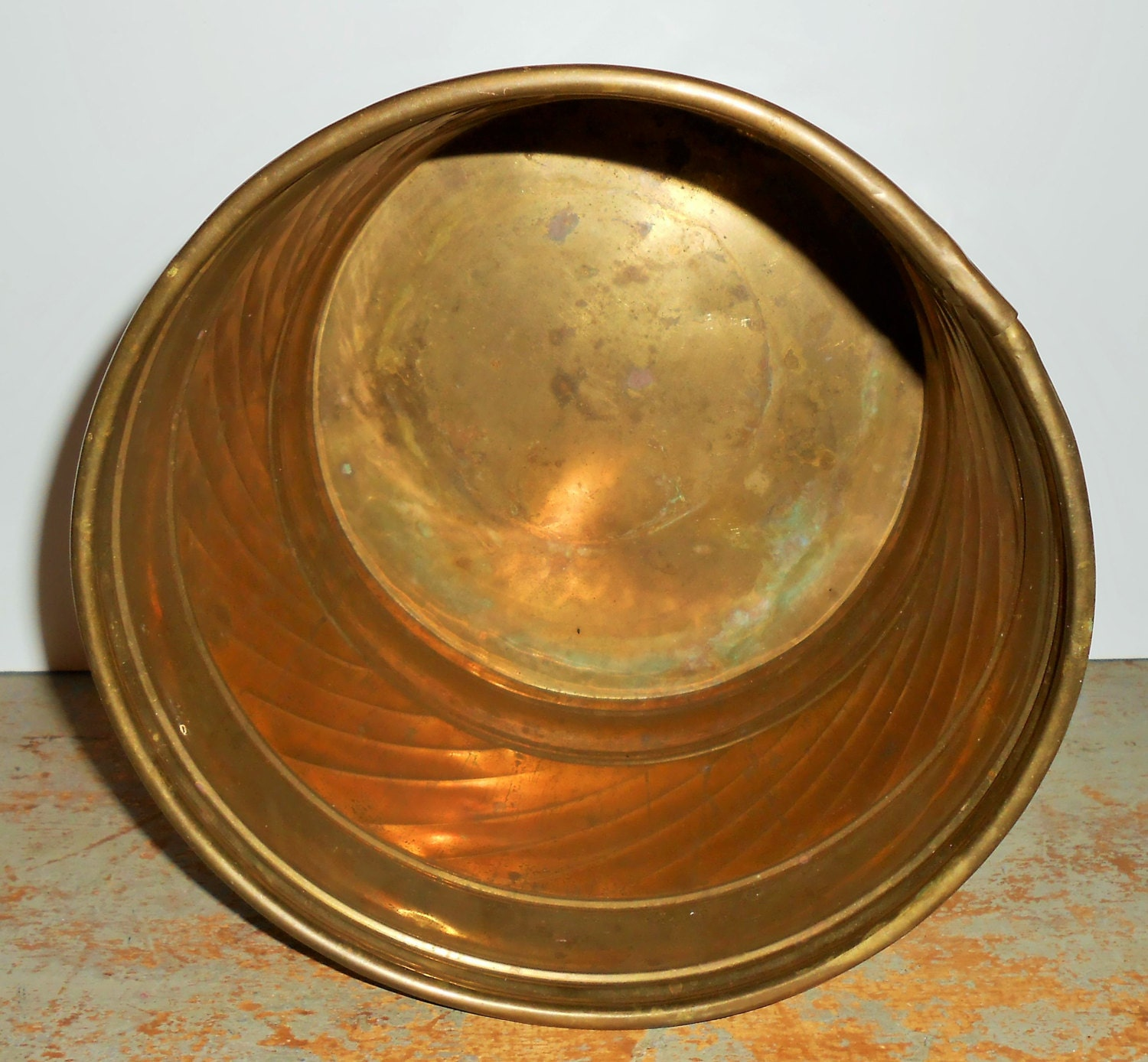 Vintage Planter Brass Pot Flower Pot Brass Decor