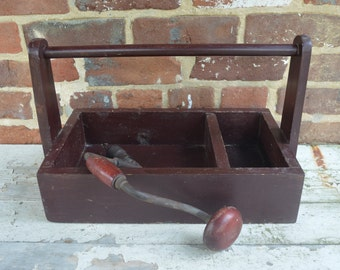 Vintage Wood Tool Box/Carrier