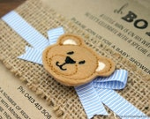 Rustic Teddy Bear Baby Shower Invitation- handmade with Kraft card and hessian