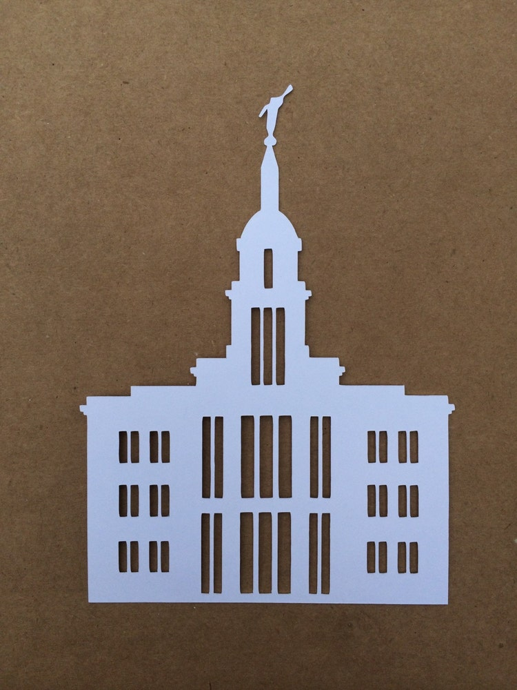 Card Stock Lds Temple Silhouettes Unmounted By