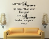 Inspirational Wall Decal Quote