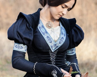 "Medieval Vest Bodice ""Lost Princess"";Fantasy Bodice;vest;medieval vest; ren vest; black vest; medieval waistcoat;"