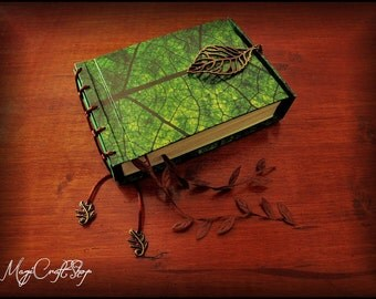LEAF Herbarium book of shadows - small size 15,5x11,5 centimeters