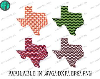 Digital Cut Files - Texas - State - Chevron - SVG - DXF - EPS - Vinyl - Vector - Silhouette, Make the Cut, Sure Cuts a Lot, Cricut