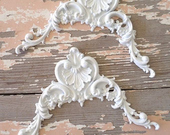 Shabby Chic Furniture Appliques * Architectural Carved Corners FLEXIBLE 5.95 NO LIMIT Shipping