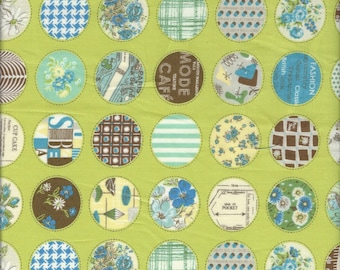 Small Retro Circles  Col D by Suzuko Koseki for  Yuwa of Japan
