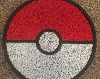 Pokemon pokeball Iron on or sew on Patches