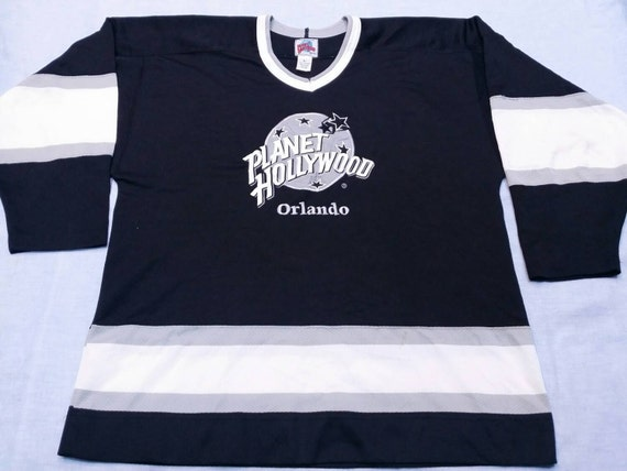Vintage 90s planet hollywood orlando canada ice by for Planet hollywood t shirt