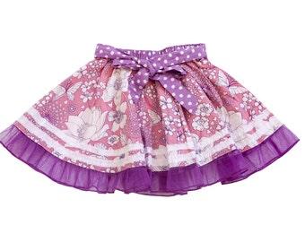 Sale,Girl Twirl skirt ,Purple Toddler Skirt,Summer Skirt,Floral Skirt,Cotton Skirt,Birthday Skirt,Toddler Twirl Skirt,Circle Skirt.