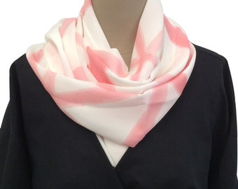 """Pink """"Origami"""" Scarf"""