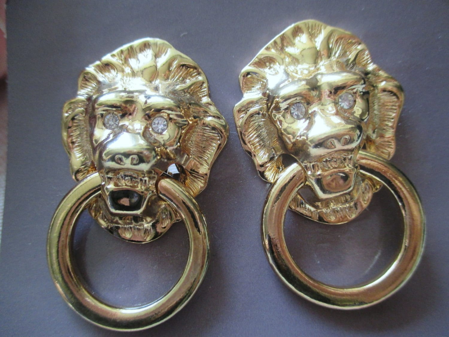 Vintage Kjl For Avon Lion Head Door Knockers By Cantonvintage