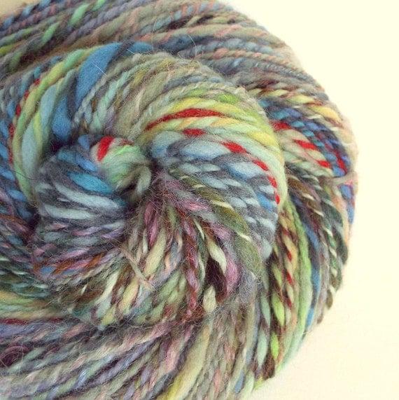 Knitting Handspun Wool : Handspun art yarn knitting wool for or crochet