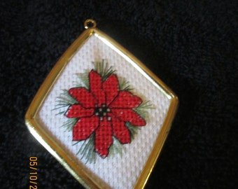 Poinsettia Christmas Tree Ornament