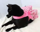 Dress for Cat in Pink with Small Bows