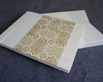 One of a Kind / Handmade blank book with Slip case (Blank - Stab binding)