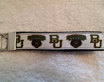 Handcrafted NCAA Baylor University Bears Key Chain Wristlet