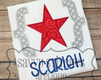 Bracket Star Machine Embroidery Applique Design