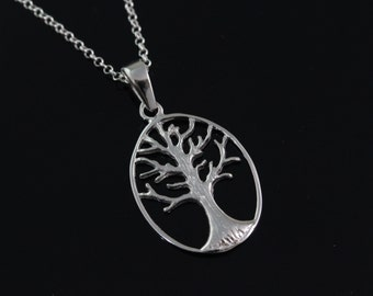 925 Sterling silver tree of life Necklace, Silver tree of life Jewelry, tree of life pendant, tree of life, tree of life necklace.  CHPL5061