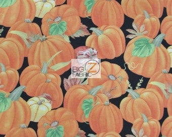 """Harvest Time Pumpkins By Jane Maday For Wilmington Prints 100% Cotton Fabric 45"""" Wide By The Yard (FH-1808)"""