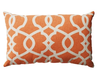 orange lumbar pillow cover