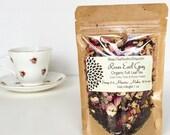 ROSES EARL GREY Organic Full Leaf Tea, Black Tea//loose tea//hand-blended