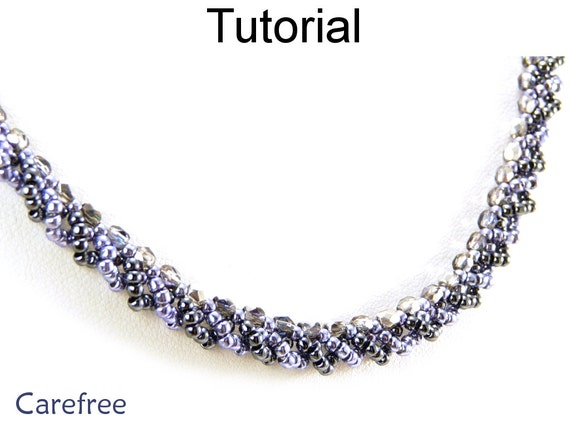 jewelry tutorial pattern necklace simple bead
