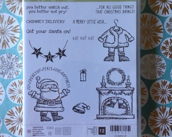 Stampin'Up! Stamp set. Get your santa on. Photopolymer . New.