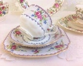"Royal Albert "" Petit Point China "" Tea Trio"