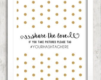 Wedding Hashtag Print