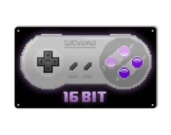 """16 bit controller metal sign 8""""x14"""""""