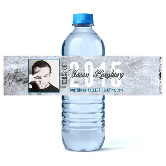 Water Bottle Name Tags: Personalized Graduation Labels Water Bottle By ICustomWater