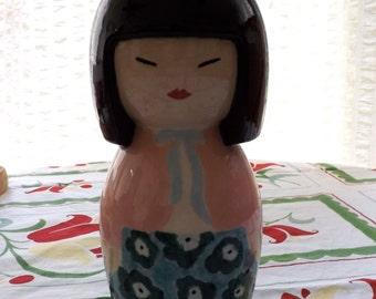 """Hand-painted Geisha Bank (7x4"""") [L35]"""